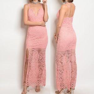 Dresses & Skirts - Crochet Lace Maxi Party Dress